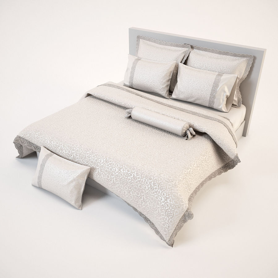 Bedcloth(24) royalty-free 3d model - Preview no. 6