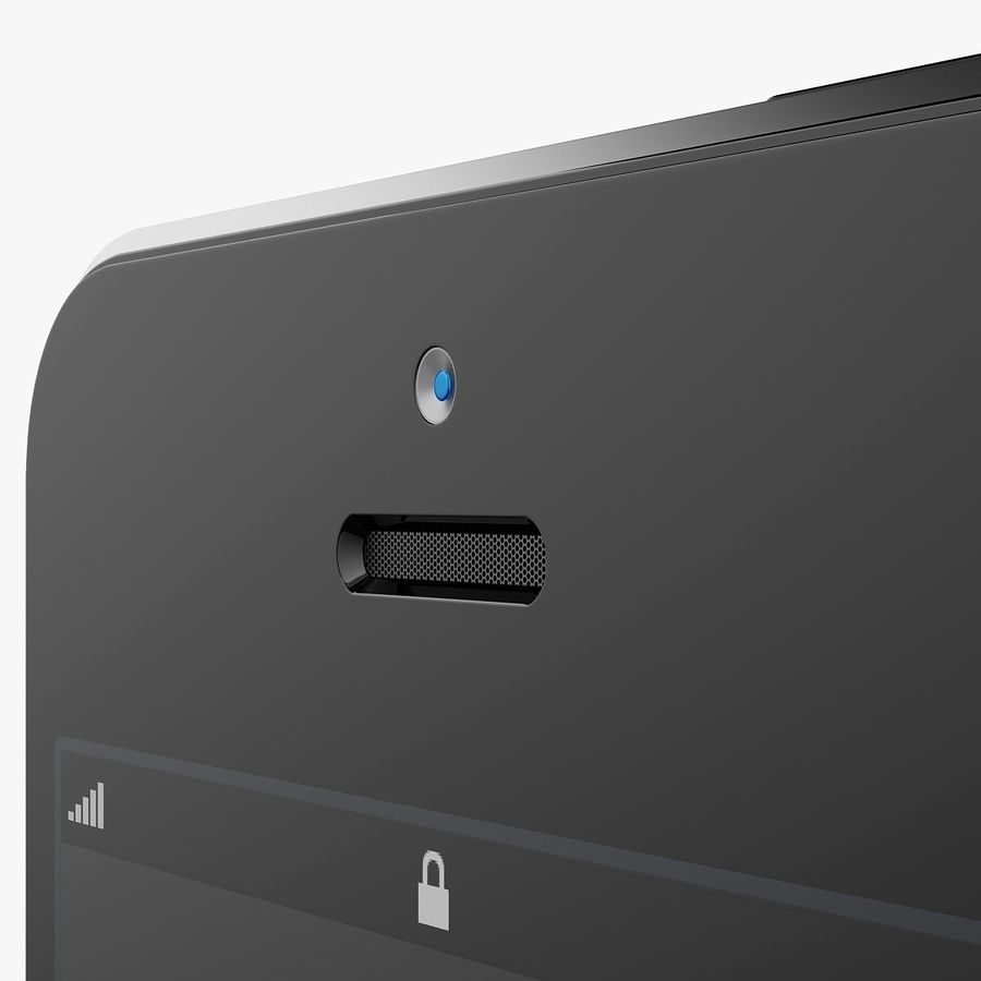 iphone 5 royalty-free 3d model - Preview no. 5
