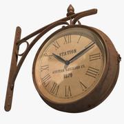駅の時計 3d model