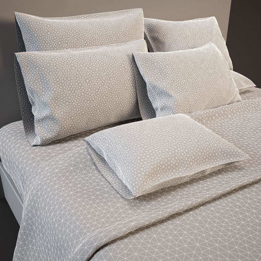 Bedcloth(14) royalty-free 3d model - Preview no. 9