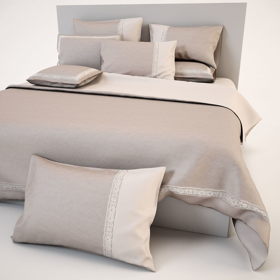 Bedcloth(14) royalty-free 3d model - Preview no. 12