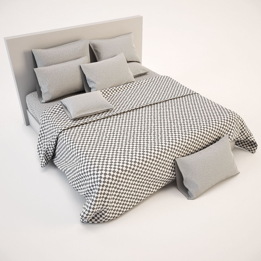 Bedcloth(14) royalty-free 3d model - Preview no. 5