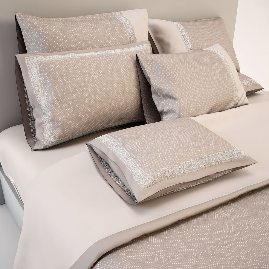 Bedcloth(14) royalty-free 3d model - Preview no. 8