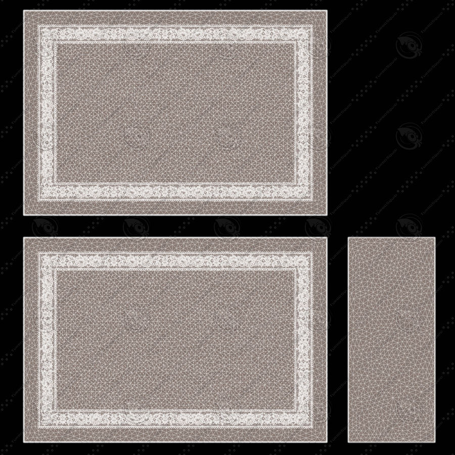 Bedcloth(14) royalty-free 3d model - Preview no. 15