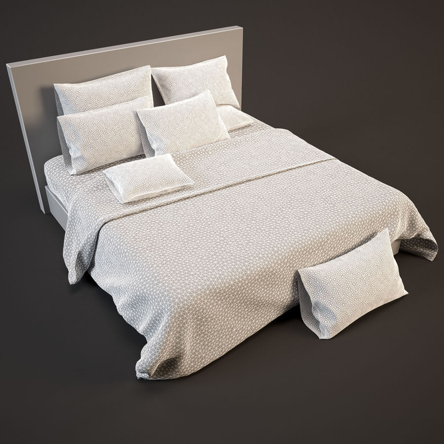 Bedcloth(14) royalty-free 3d model - Preview no. 4