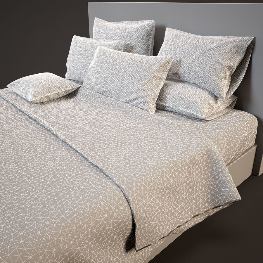 Bedcloth(14) royalty-free 3d model - Preview no. 11