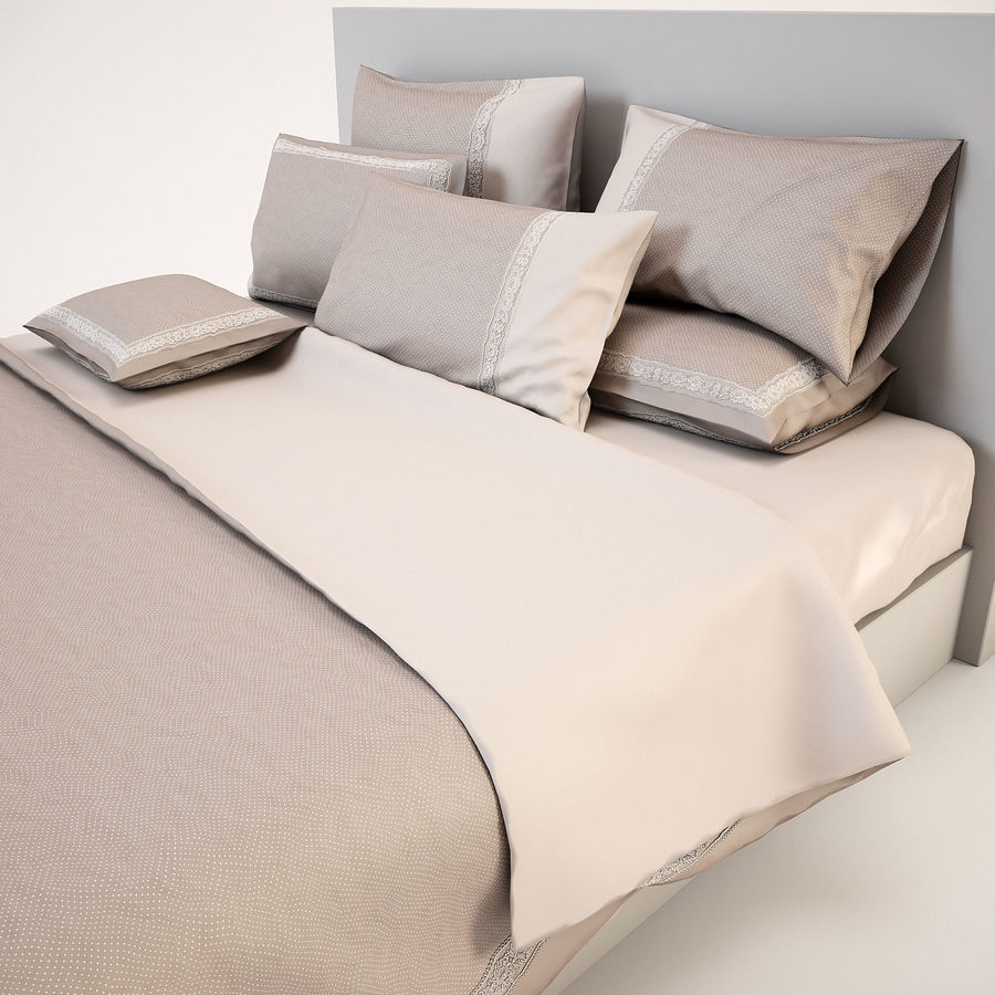 Bedcloth(14) royalty-free 3d model - Preview no. 10