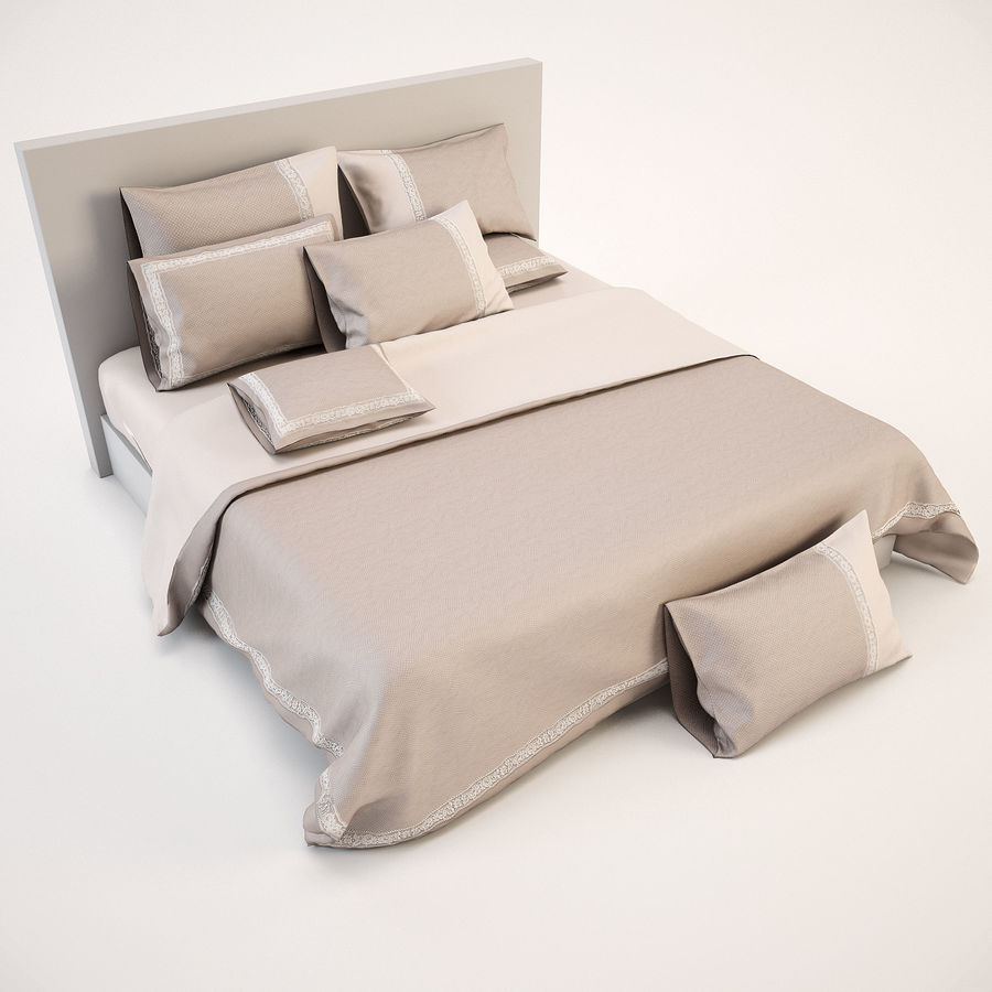 Bedcloth(14) royalty-free 3d model - Preview no. 3