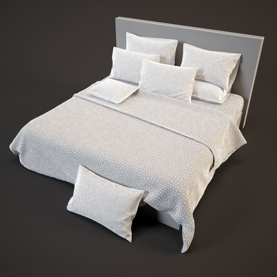 Bedcloth(14) royalty-free 3d model - Preview no. 7
