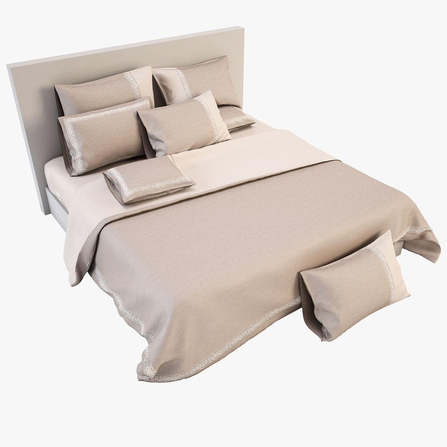 Bedcloth(14) royalty-free 3d model - Preview no. 1