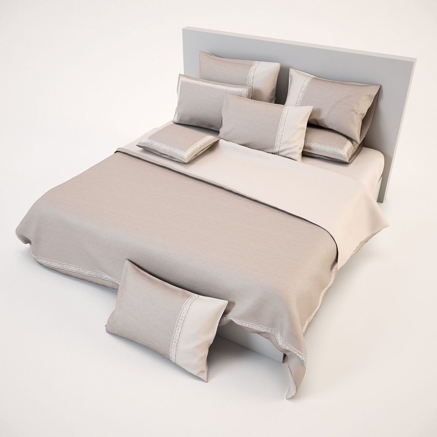 Bedcloth(14) royalty-free 3d model - Preview no. 6