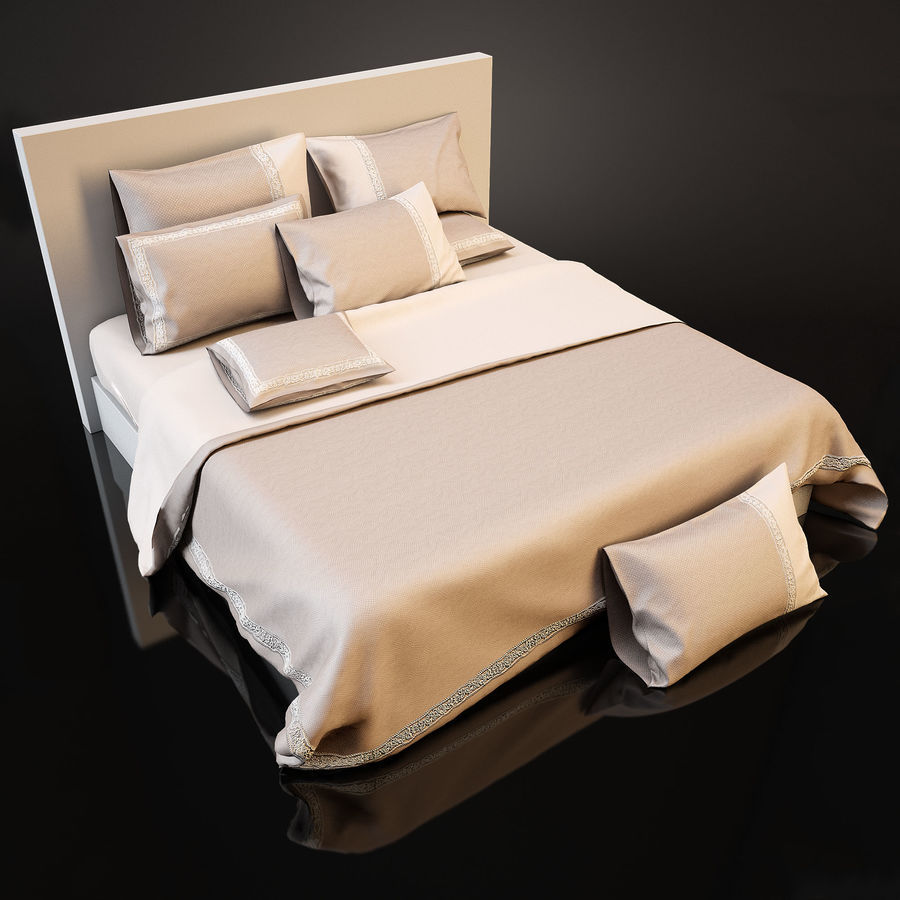 Bedcloth(14) royalty-free 3d model - Preview no. 2