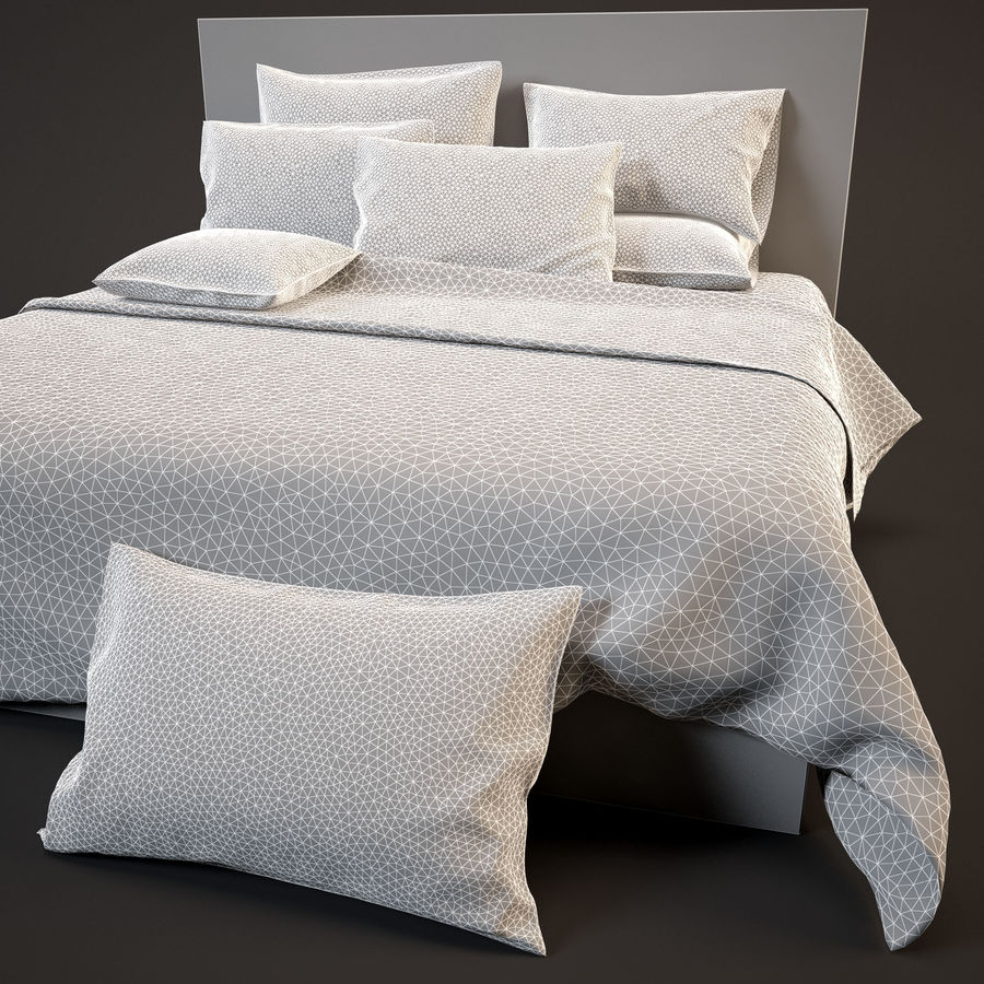 Bedcloth(14) royalty-free 3d model - Preview no. 13
