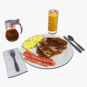 Francuskie śniadanie tostowe 3d model