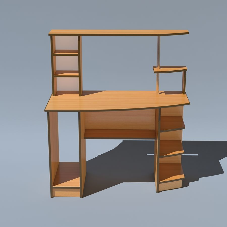 Mesa de ordenador royalty-free modelo 3d - Preview no. 6