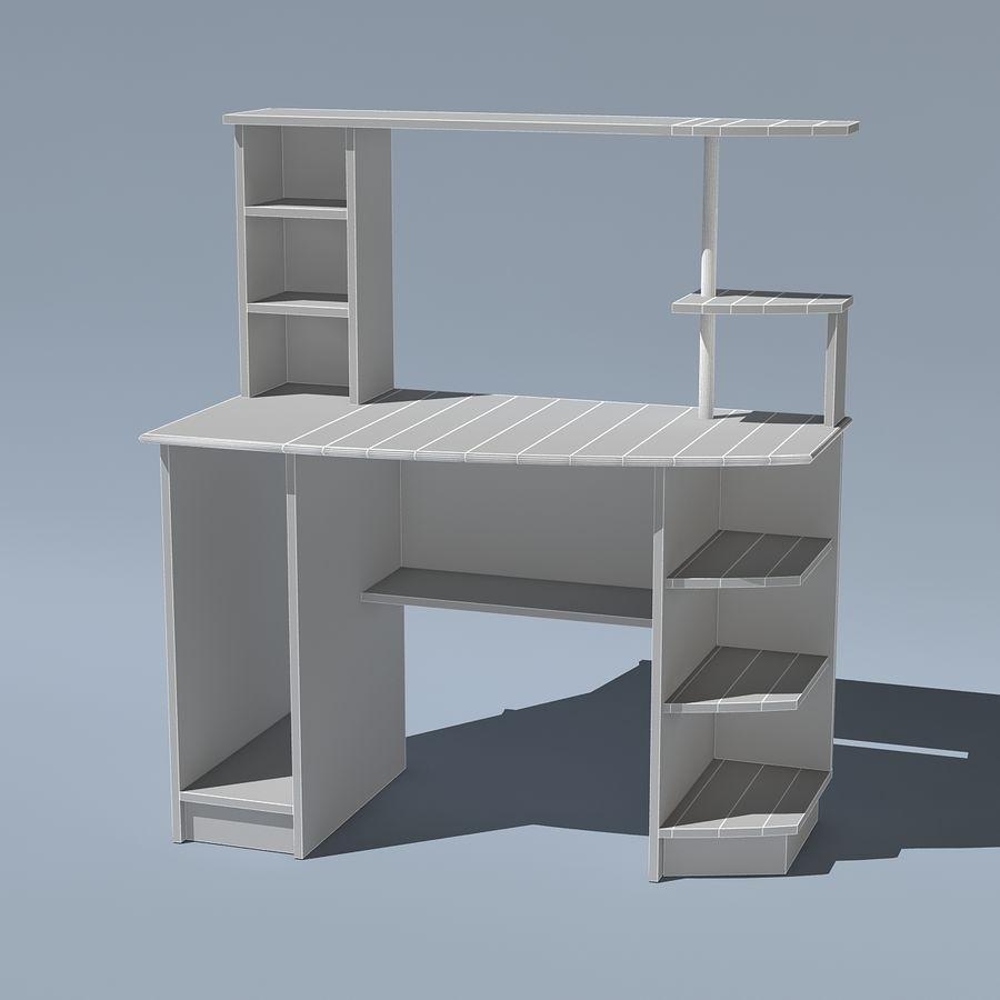 Mesa de ordenador royalty-free modelo 3d - Preview no. 8