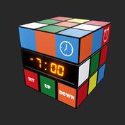 Reloj cubo modelo 3d