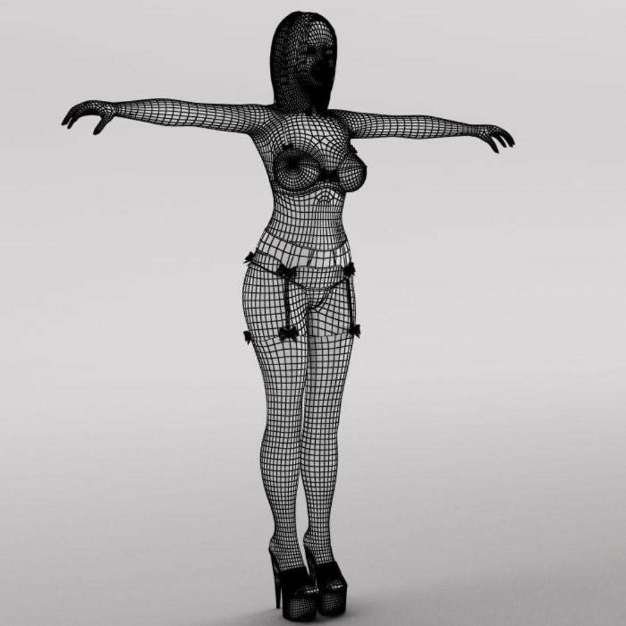 Ragazza sexy royalty-free 3d model - Preview no. 14