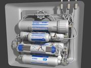 filtre à eau aqua 3d model