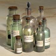 Apothecary Bottles 3d model
