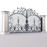 Puerta de hierro forjado modelo 3d