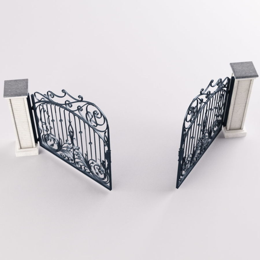 Wrought Iron Gate royalty-free 3d model - Preview no. 8