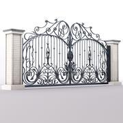 Portão de ferro forjado 3d model