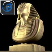 Busto del faraón de Tutankamón modelo 3d