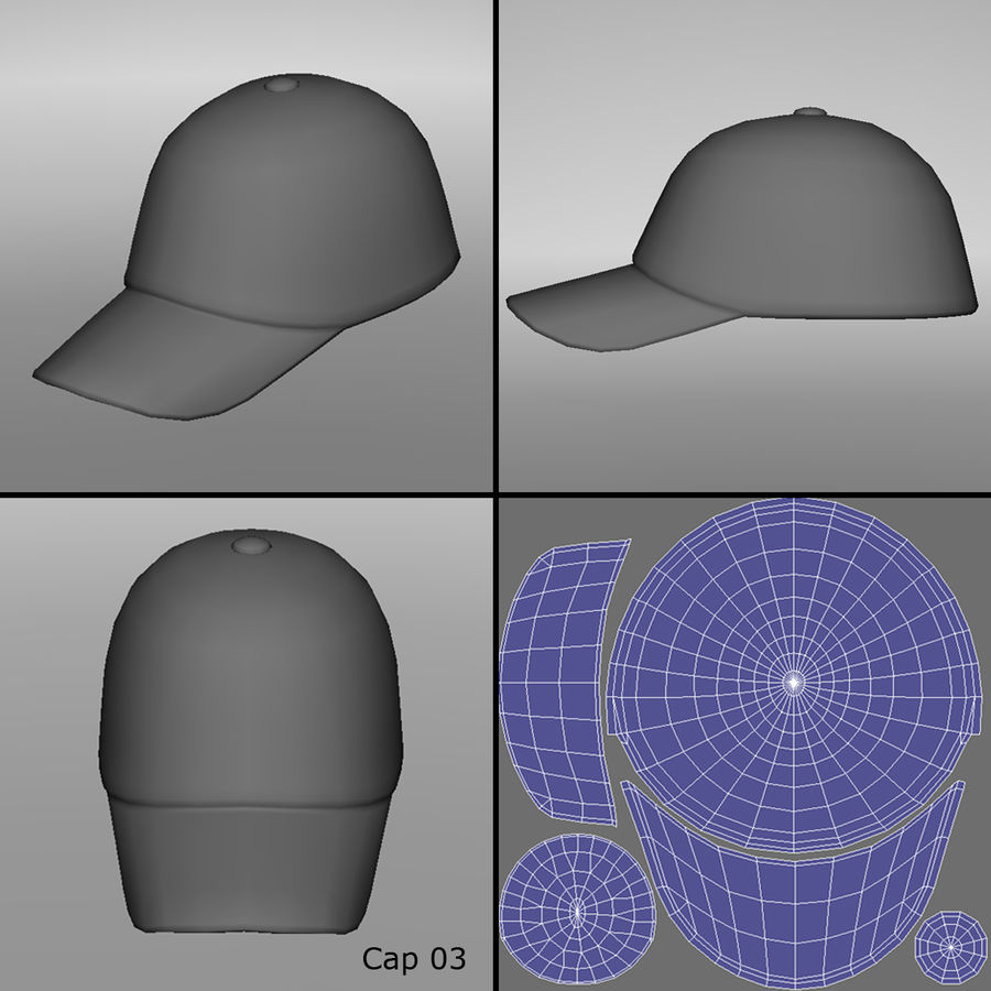 Caps royalty-free 3d model - Preview no. 7