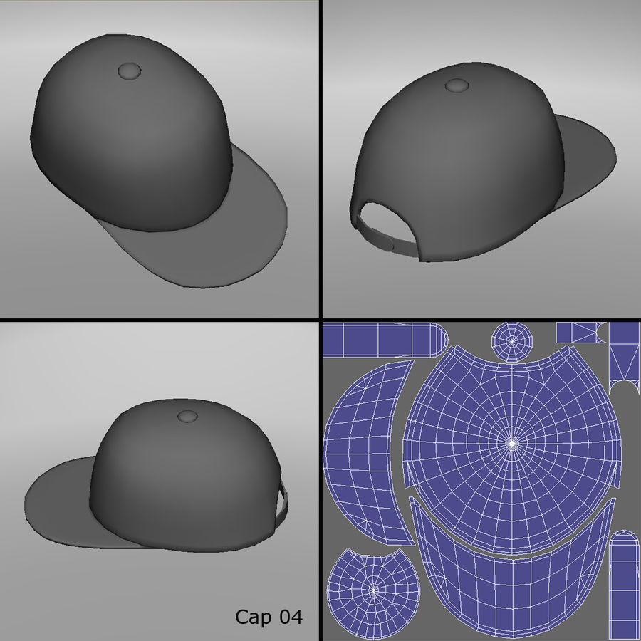 Caps royalty-free 3d model - Preview no. 9