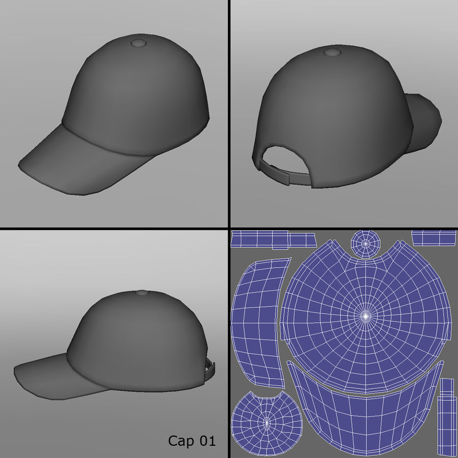 Caps royalty-free 3d model - Preview no. 3