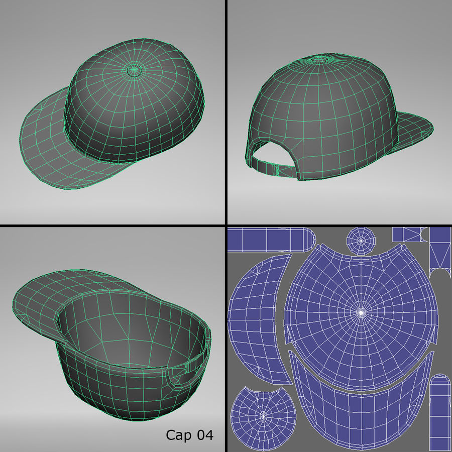 Caps royalty-free 3d model - Preview no. 10