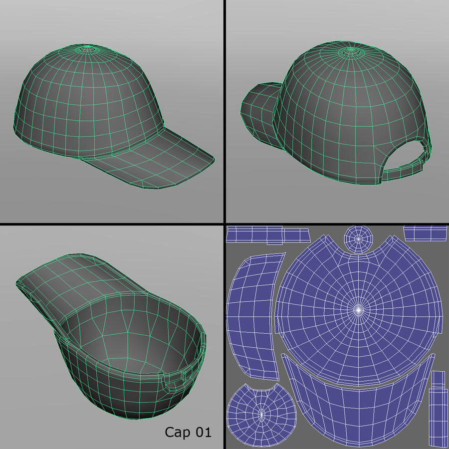 Caps royalty-free 3d model - Preview no. 4