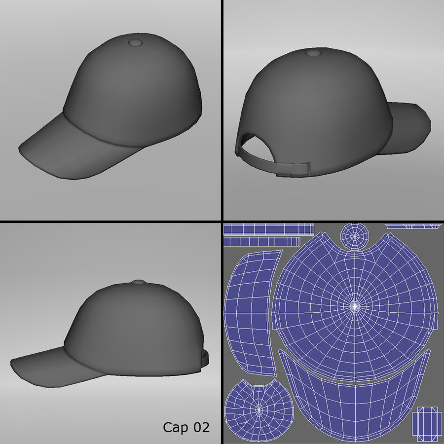 Caps royalty-free 3d model - Preview no. 5