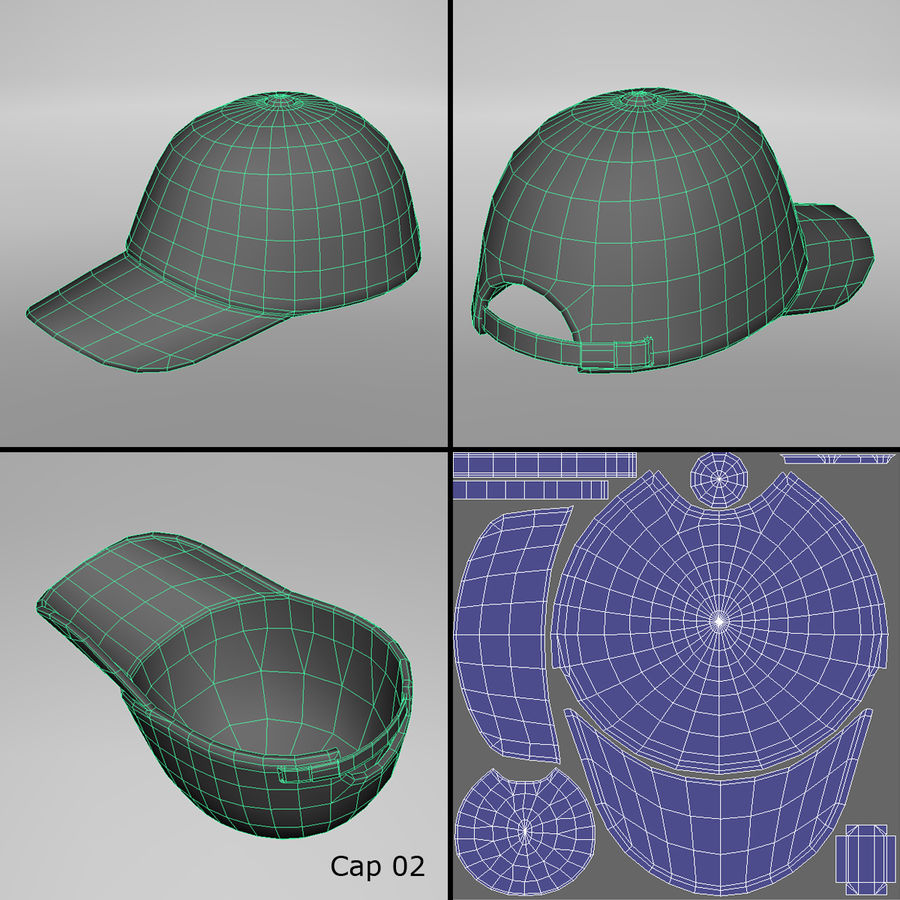 Caps royalty-free 3d model - Preview no. 6