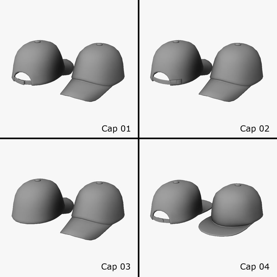 Caps royalty-free 3d model - Preview no. 1