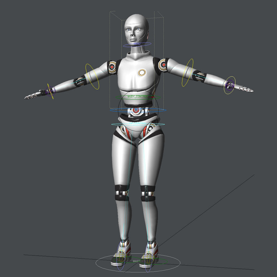Android royalty-free 3d model - Preview no. 9