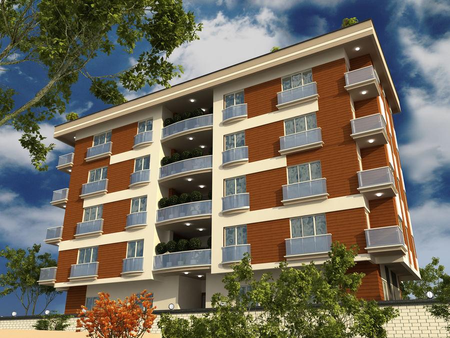 Edificio de la casa de la ciudad 1 royalty-free modelo 3d - Preview no. 1
