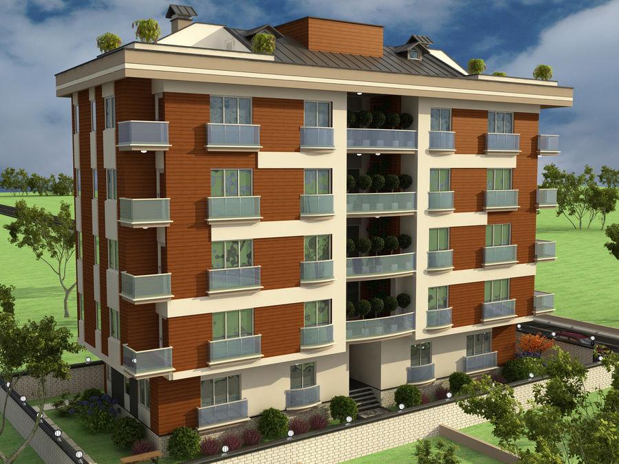 Edificio de la casa de la ciudad 1 royalty-free modelo 3d - Preview no. 3
