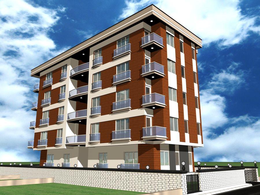 Edificio de la casa de la ciudad 1 royalty-free modelo 3d - Preview no. 15
