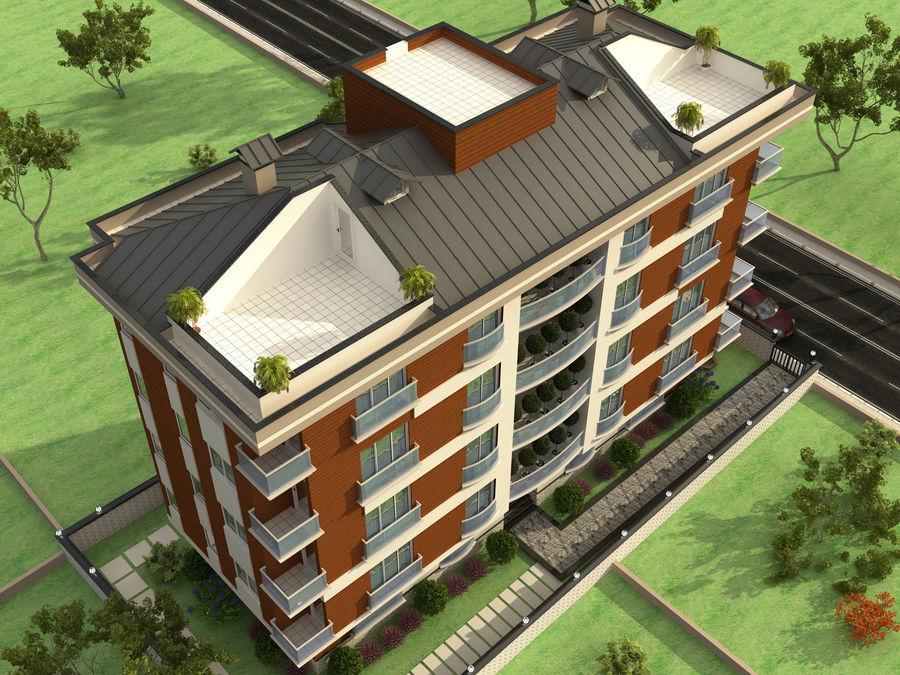 Edificio de la casa de la ciudad 1 royalty-free modelo 3d - Preview no. 2