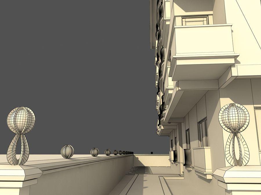 Edificio de la casa de la ciudad 1 royalty-free modelo 3d - Preview no. 11