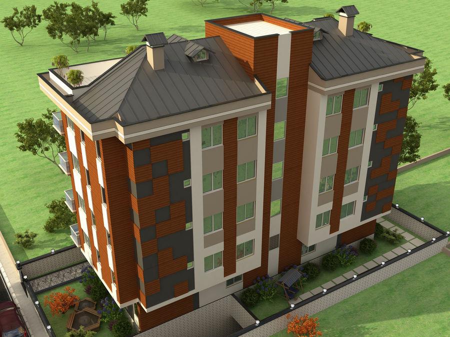 Edificio de la casa de la ciudad 1 royalty-free modelo 3d - Preview no. 5