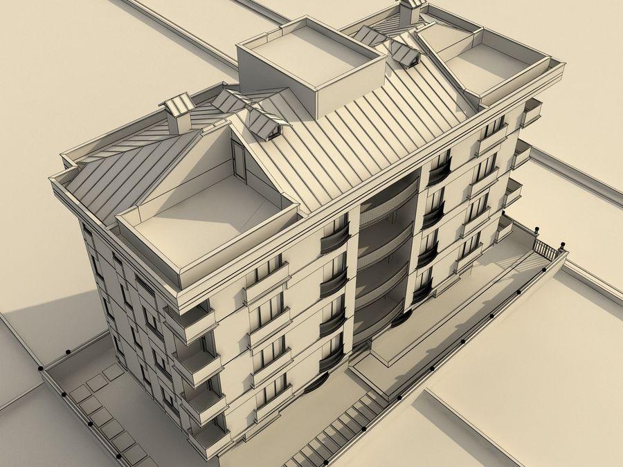 Edificio de la casa de la ciudad 1 royalty-free modelo 3d - Preview no. 9