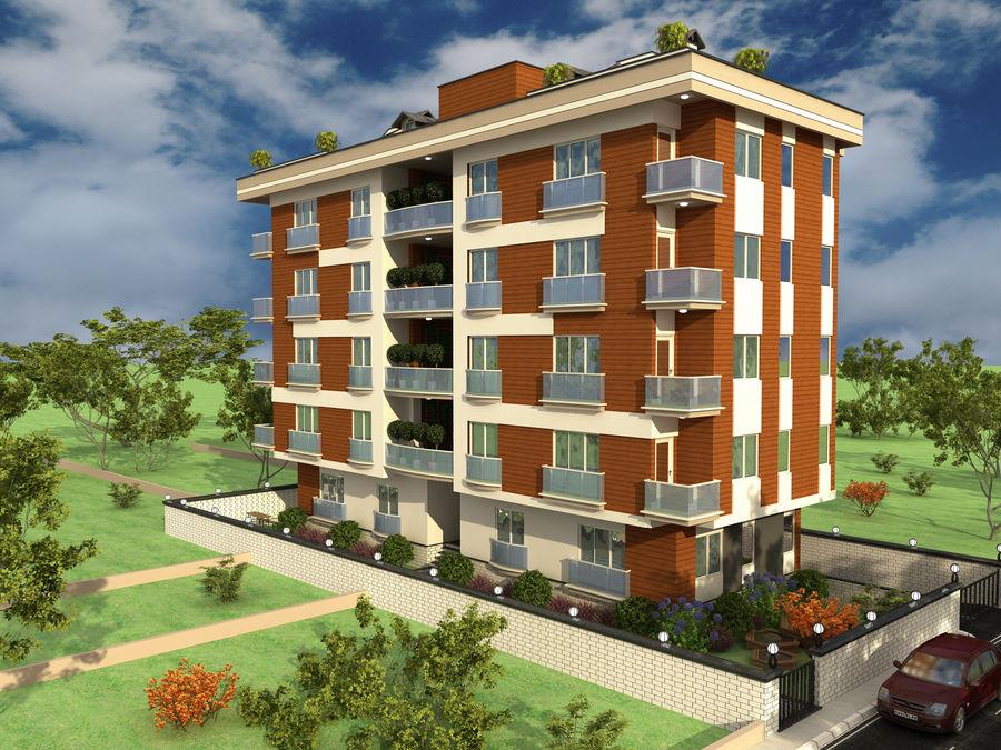 Edificio de la casa de la ciudad 1 royalty-free modelo 3d - Preview no. 4