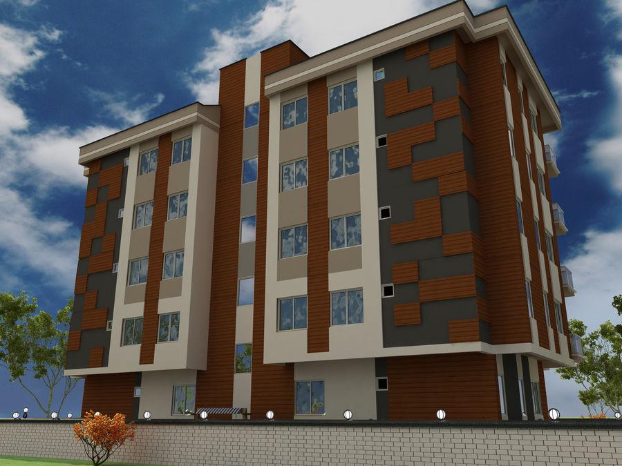 Edificio de la casa de la ciudad 1 royalty-free modelo 3d - Preview no. 6