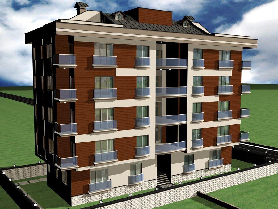 Edificio de la casa de la ciudad 1 royalty-free modelo 3d - Preview no. 13