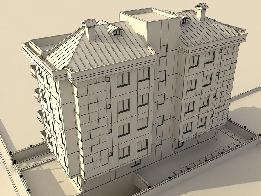 Edificio de la casa de la ciudad 1 royalty-free modelo 3d - Preview no. 10