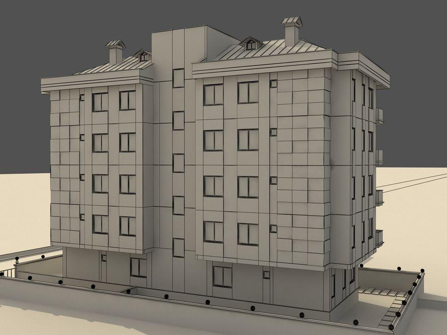 Edificio de la casa de la ciudad 1 royalty-free modelo 3d - Preview no. 8