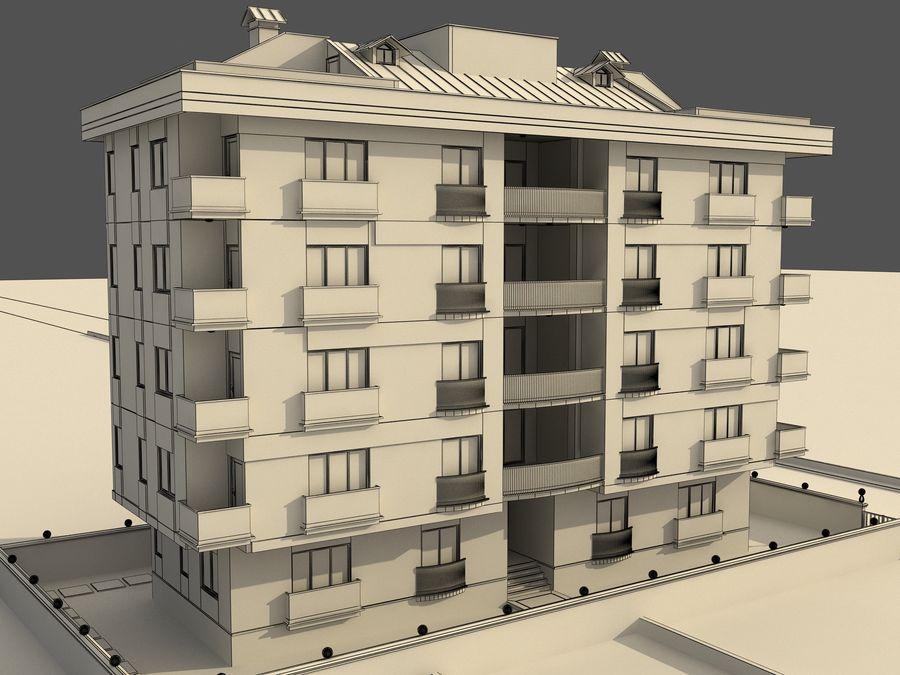 Edificio de la casa de la ciudad 1 royalty-free modelo 3d - Preview no. 7
